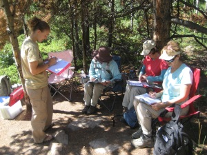 Conducting survey work in a National Park.