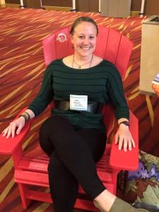 "Me ""participating"" in the #sharethechair campaign at the George Wright Society conference."