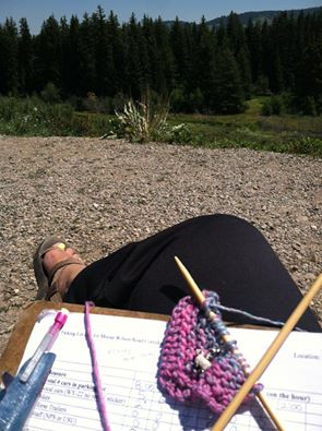 field work knitting